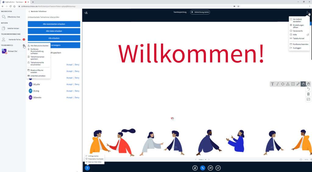 BigBlueButton - Videokonferenz-Software. Die Anwendung ist datenschutzkonform.